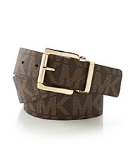 MICHAEL Michael Kors® Chocolate/Luggage Logo Reversible Belt