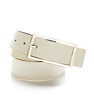 Nine West® White Contour Saffiano Belt