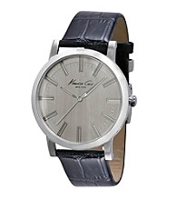 Kenneth Cole New York® Men's Slim Line Stainless Steel Light Grey Dial Watch