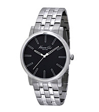 Kenneth Cole New York® Men's Slim Line Stainless Steel Black Dial Watch
