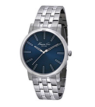 Kenneth Cole New York® Men's Slim Line Stainless Steel Dark Blue Dial Watch
