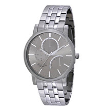 Kenneth Cole New York® Men's Slim Line Stainless Steel Grey Dial Watch