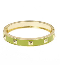 L&J Accessories Green Spike Enamel Bangle
