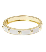 L&J Accessories White Spike Enamel Bangle