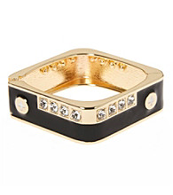 L&J Accessories Jet with Crystal Square Enamel Bangle