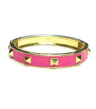 L&J Accessories Pink Spike Enamel Bangle