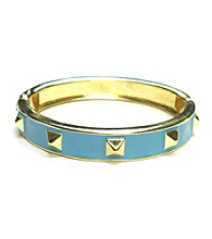 L&J Accessories Blue Spike Enamel Bangle