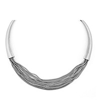 Vince Camuto™ By the Horns Silvertone Multi Strand Necklace