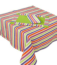 LivingQuarters Samba Stripe Table Linens