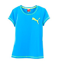 PUMA® Girls' 2T-6X Ocean Blue Performance Tee