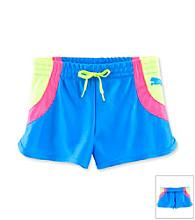 PUMA® Girls' 2T-6X Blue/Pink/Yellow Colorblock Dazzle Shorts