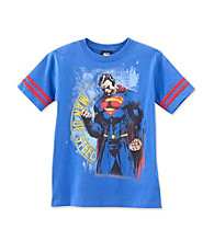 Superman® Boys' 8-20 Royal Blue Short Sleeve Man of Steel Tee