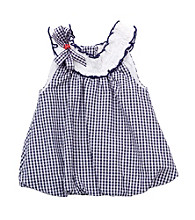 Rare Editions® Baby Girls' Navy/White Checked Dress