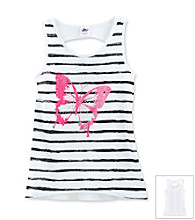 Miss Attitude Girls' 7-16 Butterfly Hi-Low Graphic Tank