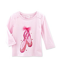 Little Miss Attitude Girls' 4-6X Classic Pink Ruffle Sleeve Graphic Tee