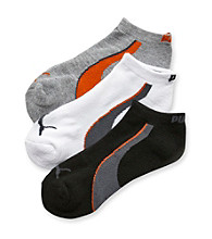 PUMA® Black/Grey/White 3-pk. Low Cut Terry Socks