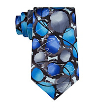 J. Garcia Men's Blue 'Courtyard Performance' Silk Tie