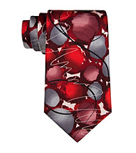 J. Garcia Men's Red 'Courtyard Performance' Silk Tie