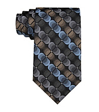 Van Heusen® Men's Black 'Illusion Circles' Silk Tie