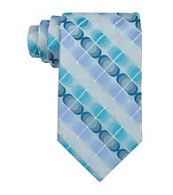 Van Heusen® Men's Aqua 'Illusion Circles' Silk Tie
