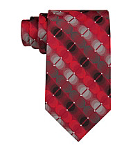 Van Heusen® Men's Red 'Illusion Circles' Silk Tie