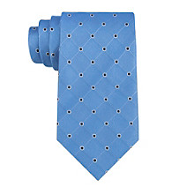 Izod® Men's Light Blue 'Walton' Grid Silk Tie