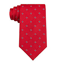 Izod® Men's Red 'Walton' Grid Silk Tie