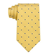 Izod® Men's Yellow 'Walton' Grid Silk Tie