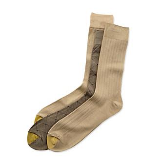 Gold Toe Men's Extended Fashion Socks - 3 Pack - Black - XLarge