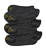 GOLD TOE® Men's Black Extended Size 6-Pack No Show Athletic Socks