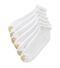 GOLD TOE® Men's Extended Size 6-Pack Quarter Athletic Socks