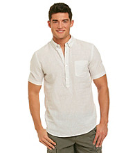 DKNY JEANS® Men's White Short Sleeve Popover Woven