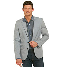 DKNY JEANS® Men's Blue Chambray 2-Button Blazer