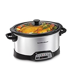 Hamilton Beach® 5-qt. Stainless Steel Programmable Slow Cooker