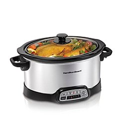 Hamilton Beach® 6-qt. Stainless Steel Programmable Slow Cooker
