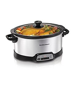 Hamilton Beach® 7-qt. Stainless Steel Programmable Slow Cooker