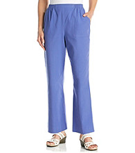 Alfred Dunner® Stretch Waistband Solid Pants