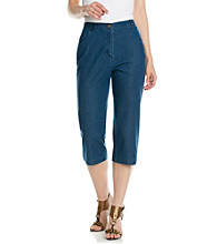 Breckenridge® Petites' Solid Denim Capris