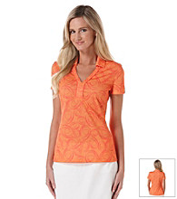 PGA Tour® Collared V-Neck Printed Polo Shirt