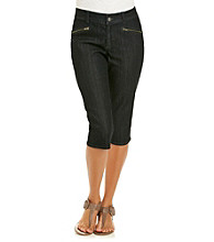 Skye's The Limit® Zip Pocket Skimmer Crop Denim Jeans