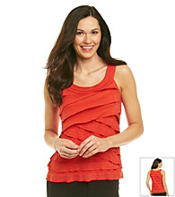 AGB® Scoopneck Tiered Ruffle Top