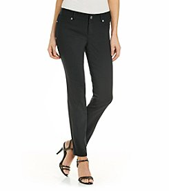 AGB® Solid Black Ankle Length Pants