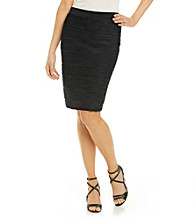 NY Collection® Fitted Textured Skirt