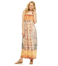 Oneworld® Strapless Snake Print Maxi Dress