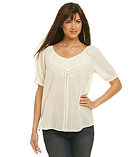 Nine West Vintage America Collection® V-Neck Katie Embroidered Peasant Top