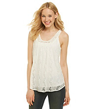Nine West Jeans® Scoopneck Lana Lace Tank