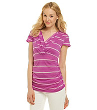 Nine West Jeans® Zoey Surplice Knot-Neck Striped Tee