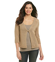 Jones New York Sport® Open Stitch One Button Cardigan