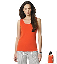 Jones New York Sport® Coral Lace Trim Tank