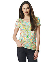 Jones New York Sport® Multi Paisley Print Tee